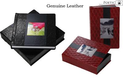 Custom Leather Wedding Albums